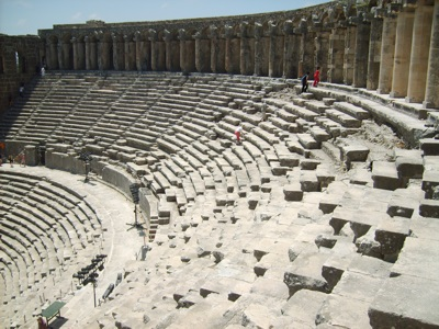 Aspendos ancient theater in Turkey